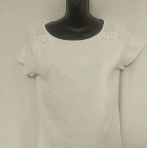 Lauren Ralph Lauren White Shirt Size Medium